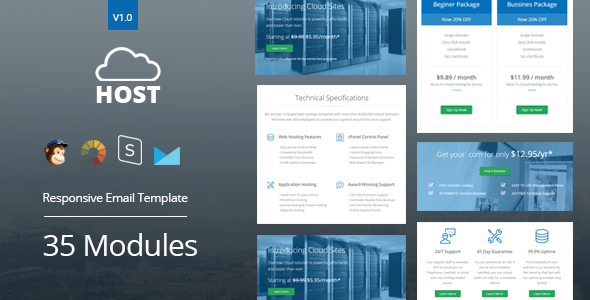 Download Host - Hosting Responsive Email Template + StampReady Builder nulled download