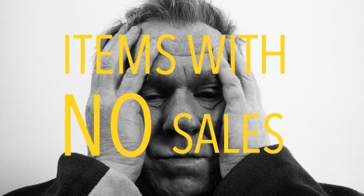 Items with NO sales