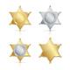 Shefiff Badge Star Set