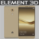 Element 3D Huawei Mate 8 Gold