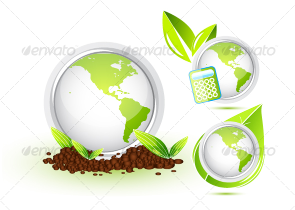 Green Earth. Icons - Characters Vectors