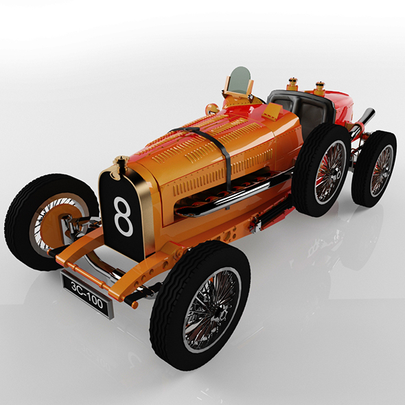 Classic Bugatti Car - 3DOcean Item for Sale