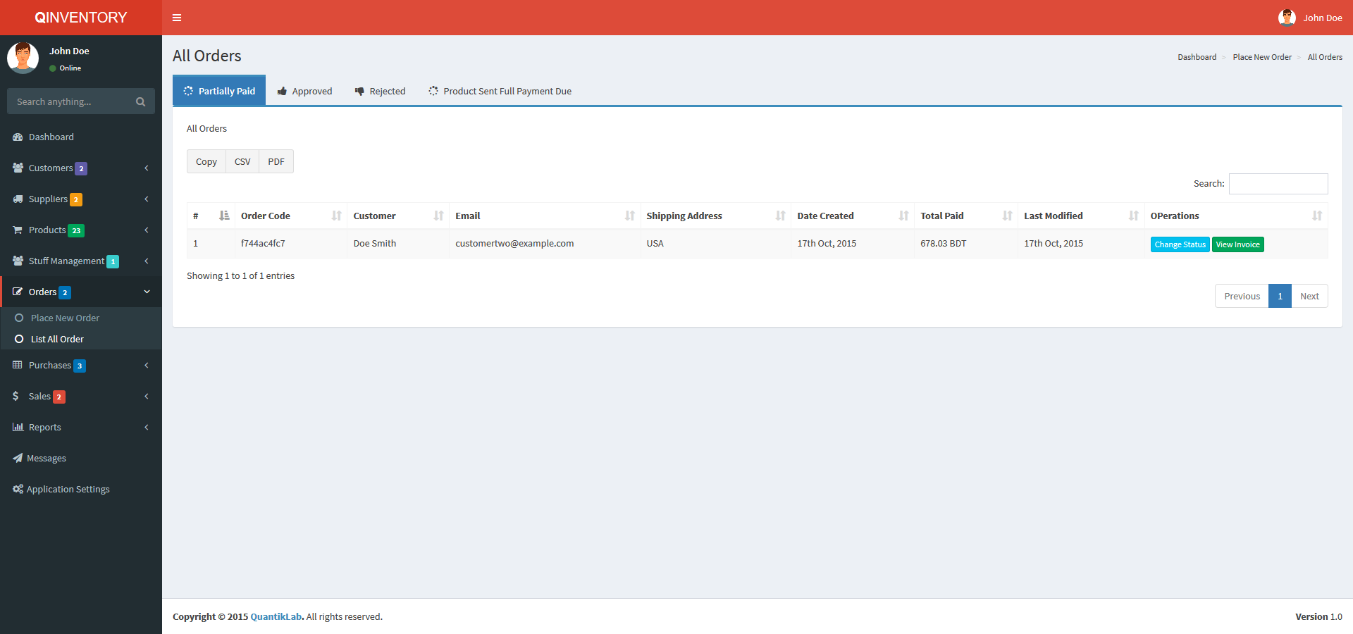 Qinventory CRM Preview - CodeCanyon Canyon