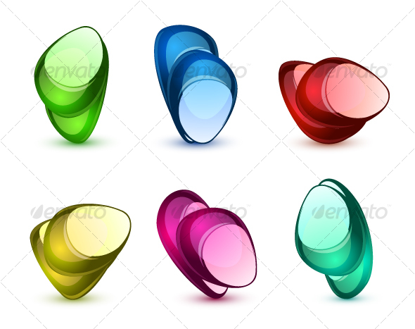 Abstract glass stones - Abstract Icons