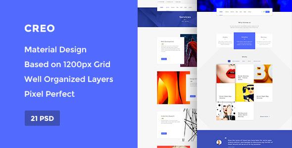 Creo — Modern Design Studio/Creative Agency PSD Template