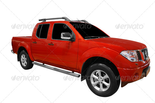 PhotoDune Red pick-up truck isolated 1514705
