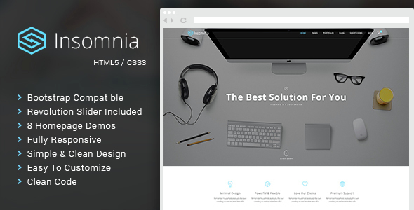 Insomnia - Beautiful and Modern HTML 5 / CSS 3 Corporate Template