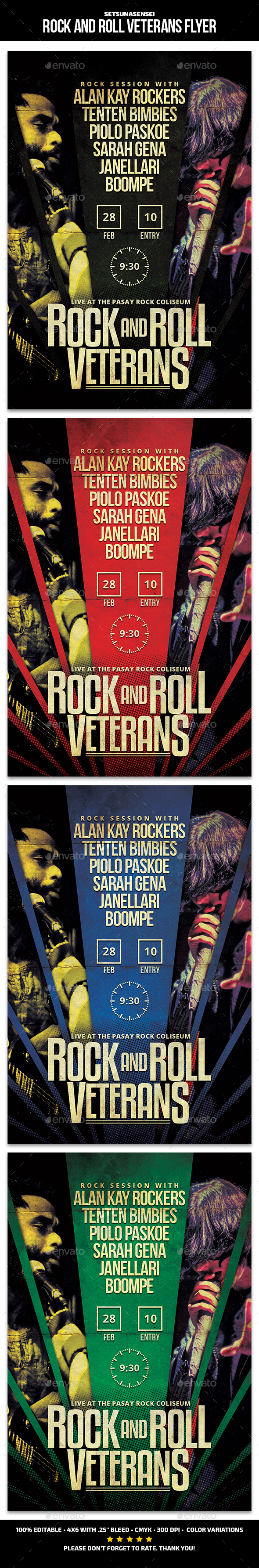 Rock and Roll Veterans Flyer