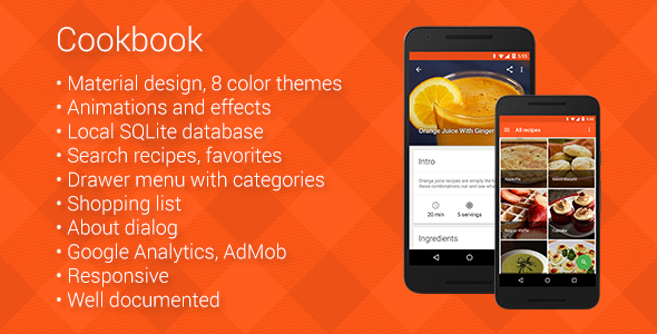 Cookbook - Recipe App for Android - CodeCanyon Item for Sale