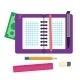 Open Spiral Binder Notebook Cell Paper