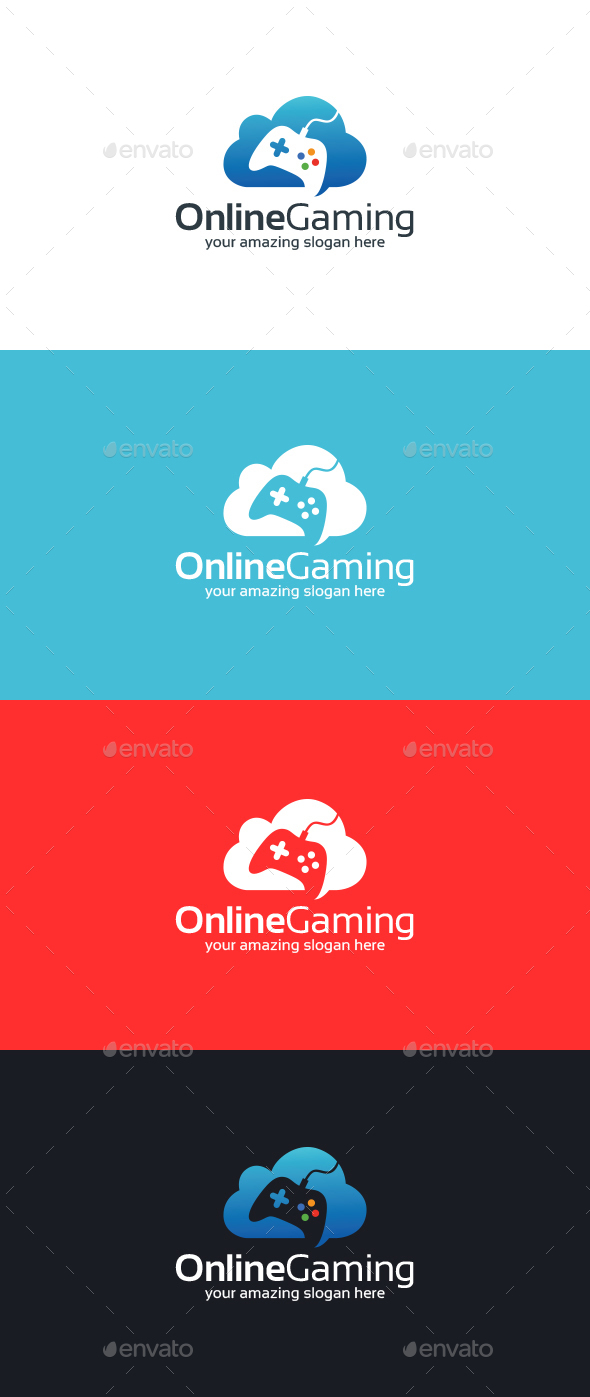 Online Gaming Logo Template