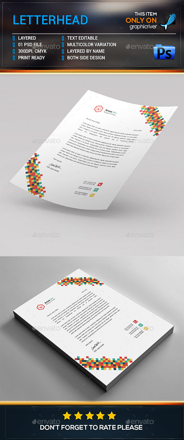 Letterhead template stationery and design templates page 3 spiritdancerdesigns Choice Image