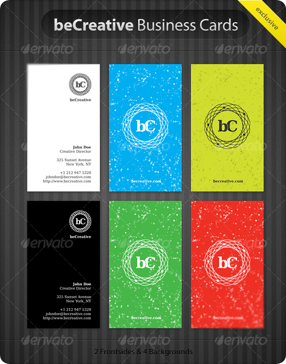 GraphicRiver beCreative Business Cards 59708