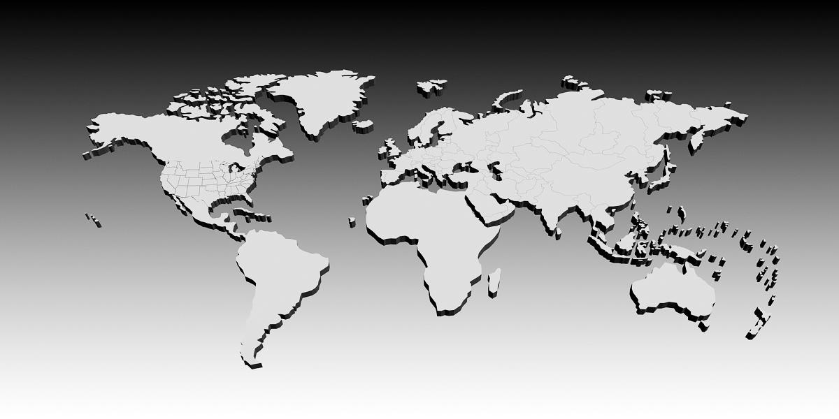 3D World Map - 3D Models | 3DOcean WORLD MAP 3D