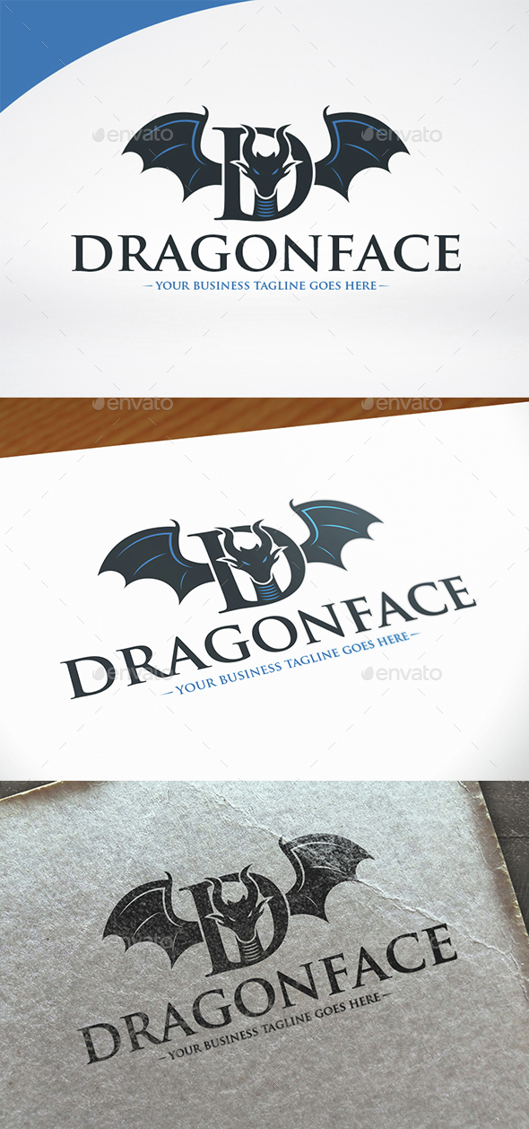 Dragon Letter D Logo Template