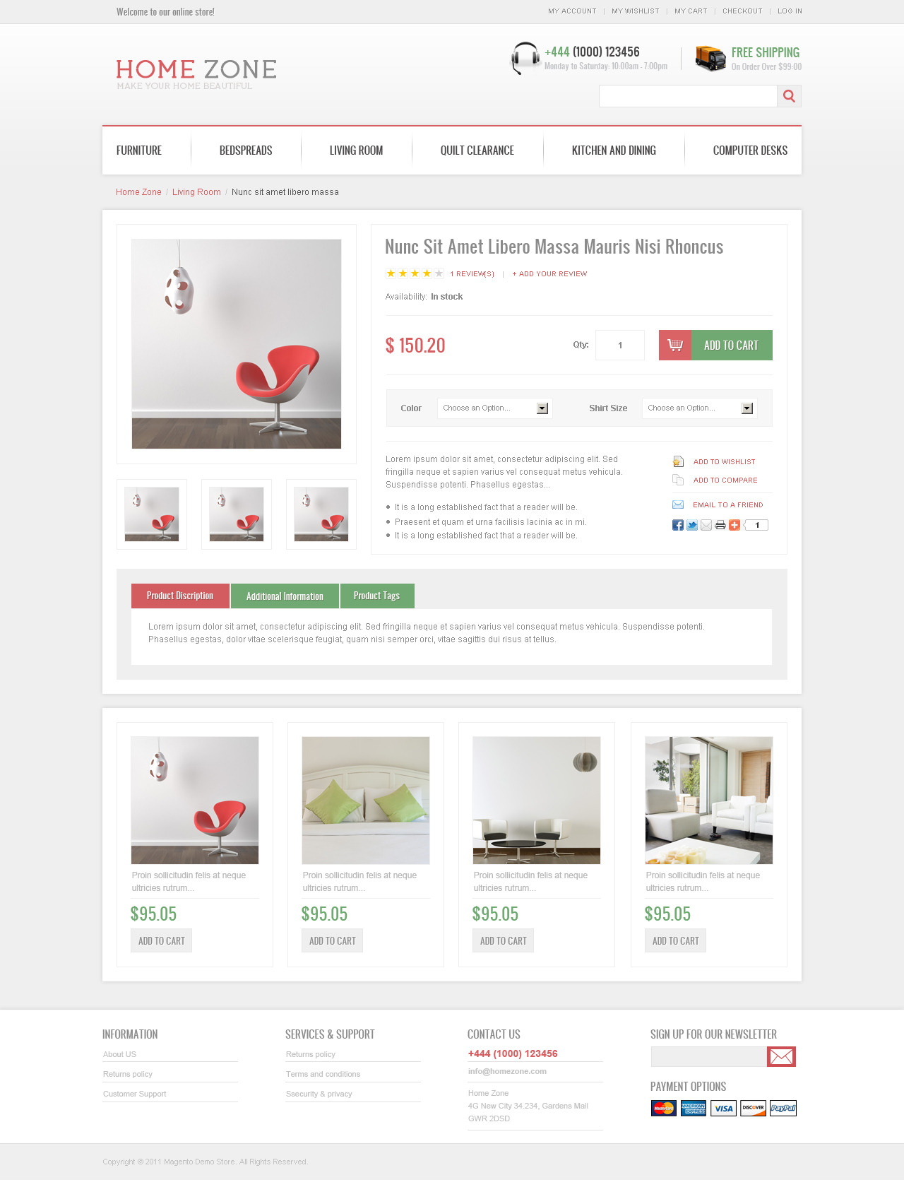 Home Zone Magento Theme