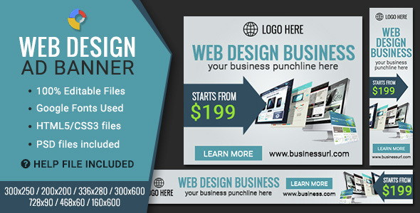Download GWD | Web Design HTML5 Banners - 07 Sizes