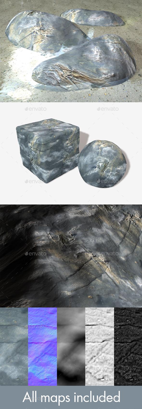 Drying Ocean Rock Seamless Texture - 3DOcean Item for Sale
