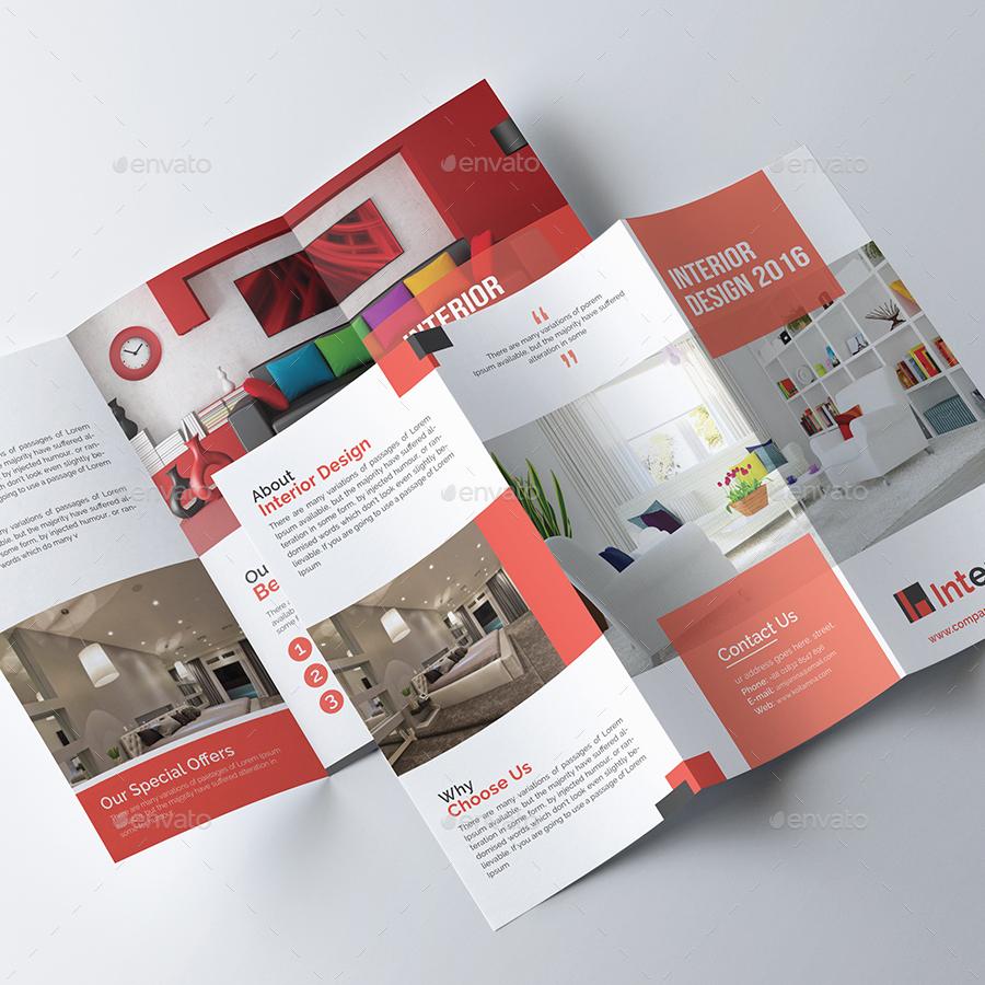 Interior design trifold brochure by pixelpick graphicriver for Interior decoration brochure design