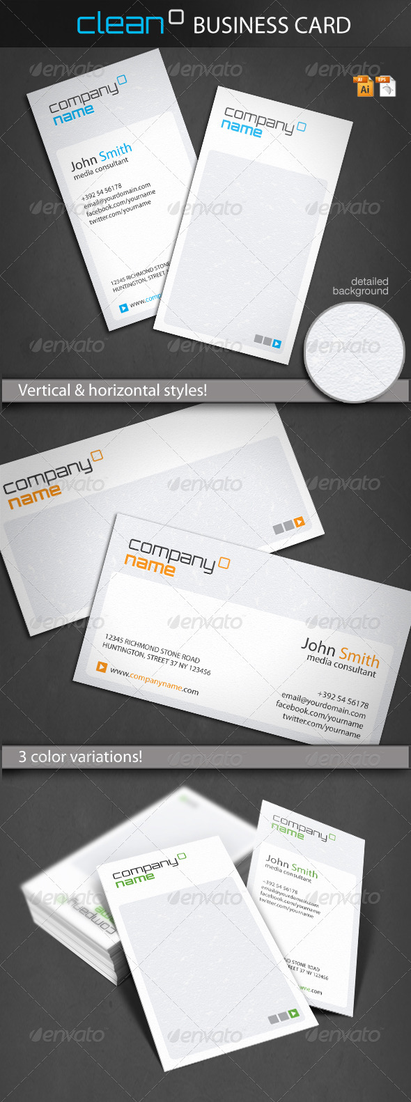 GraphicRiver Clean Business Card 1515917