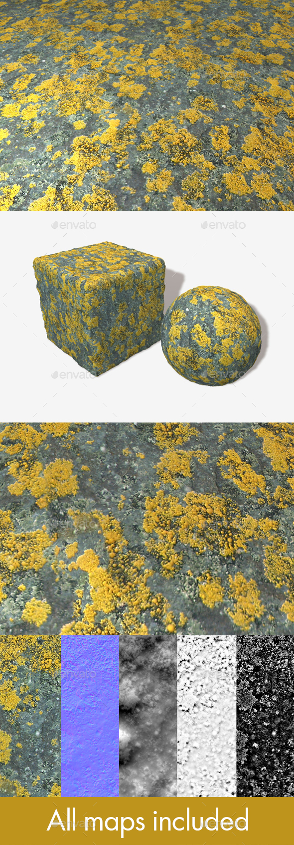 Mossy Slate Seamless Texture - 3DOcean Item for Sale