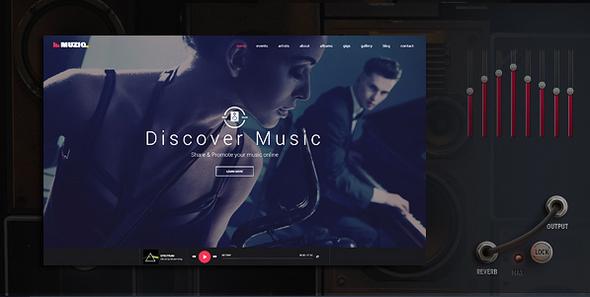 Image of Muziq - Music Band & Musician Template
