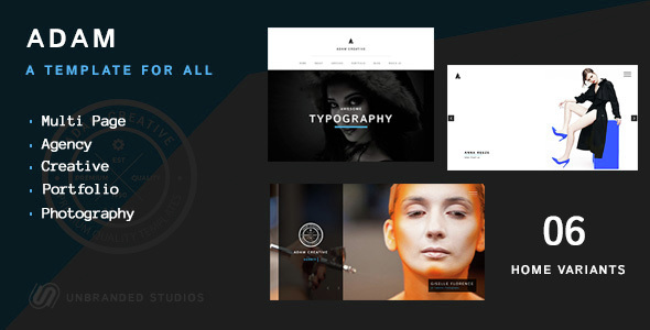 ADAM - Creative Multi Page Portfolio Template