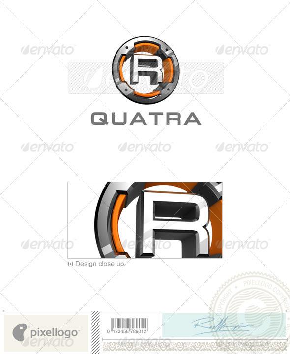 R Logo 3D-494-R