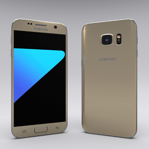 Samsung Galaxy S7 Gold - 3DOcean Item for Sale