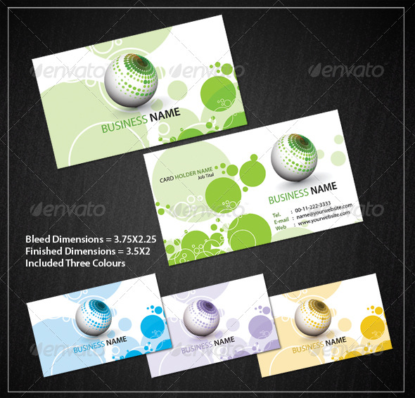 Circle Business Card Set - Corporate Business Cards