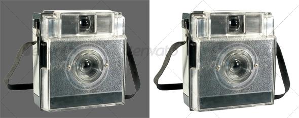 Antique automatic camera tilt view