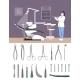 Dentist Clinic Interior Illustration Flat