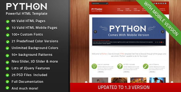 Python - Powerful Creative HTML Template