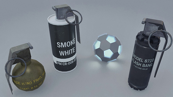 Grenades Pack - 3DOcean Item for Sale