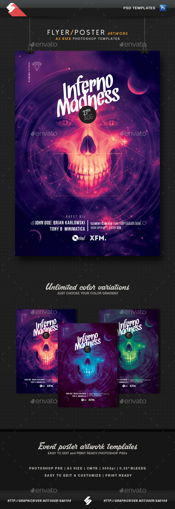 Psytrance Club Party Flyer Templates From Graphicriver Page 2