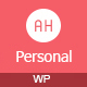AH Personal - Creative Resume & Blog Theme