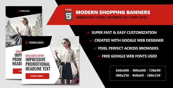 Download Modern Shopping Banners - HTML5 Animated