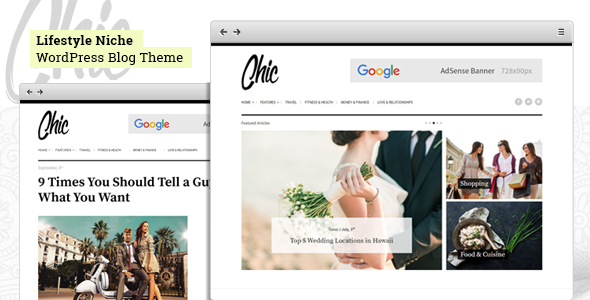 Chic - Lifestyle Blog WordPress Theme
