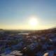 Sunset in Wangen, Switzerland