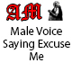 Male Voice Saying Excuse Me