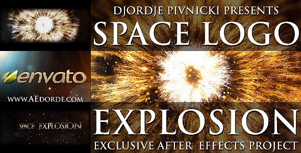 After Effects Project - VideoHive Space Logo Explosion 1517310