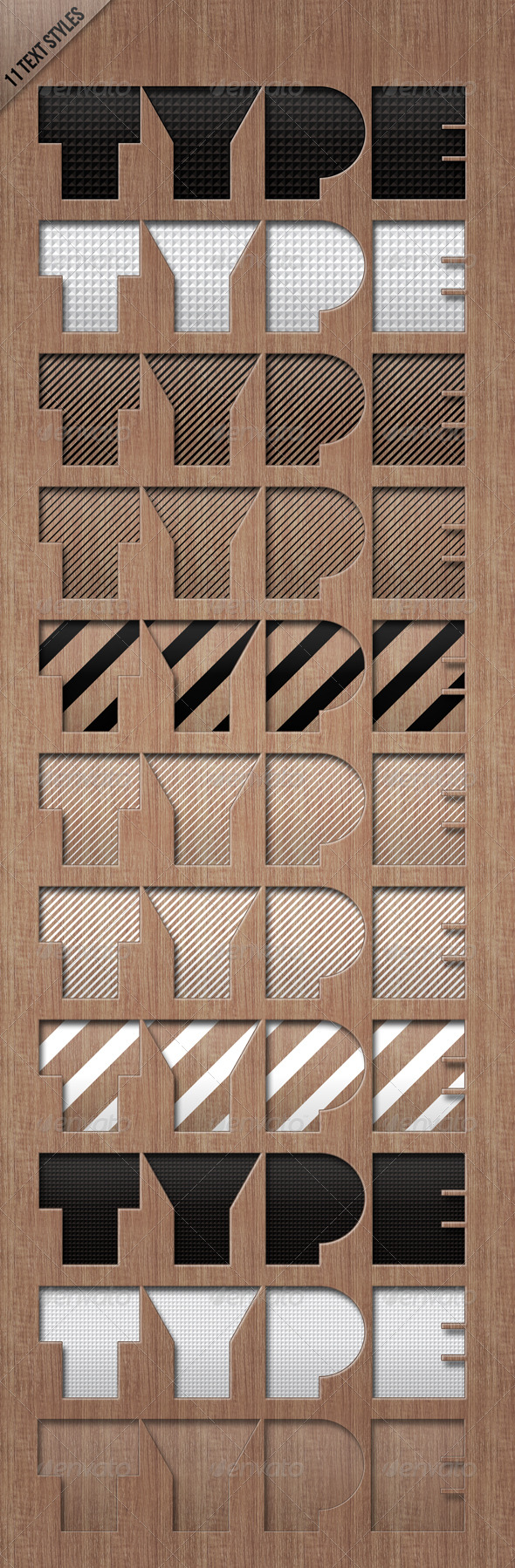 GraphicRiver Text Styles LETTERPRESSED 179360