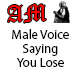 Male Voice Saying You Lose