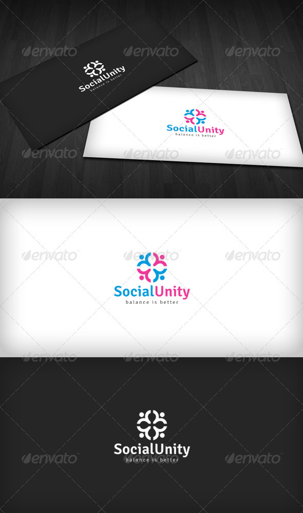 Graphic River Social Unity Logo Logo Templates -  Humans 1517496