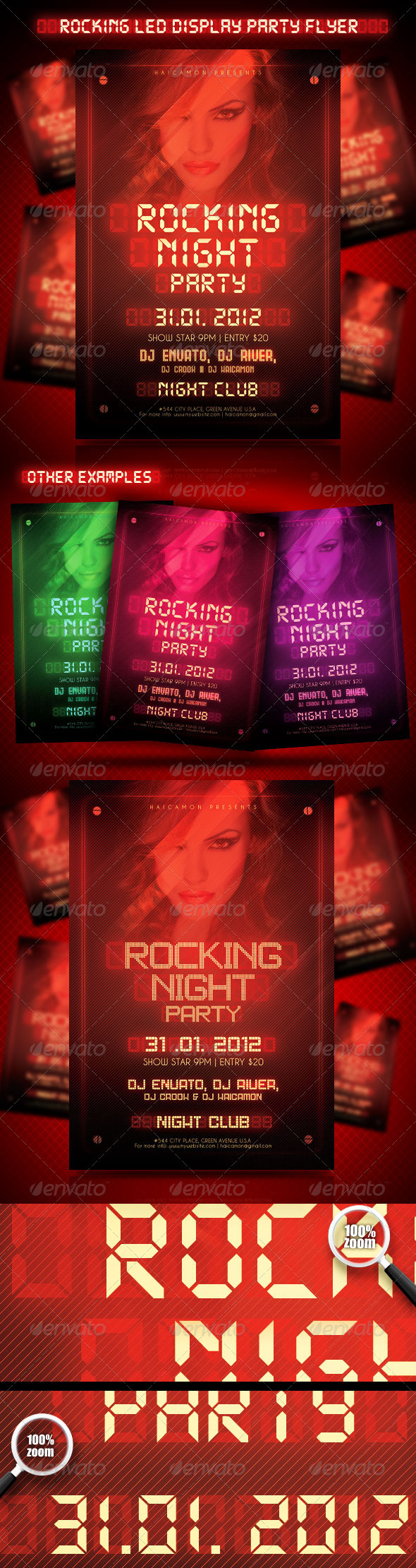 Rocking Led Display Party Flyer - Clubs & Parties Events