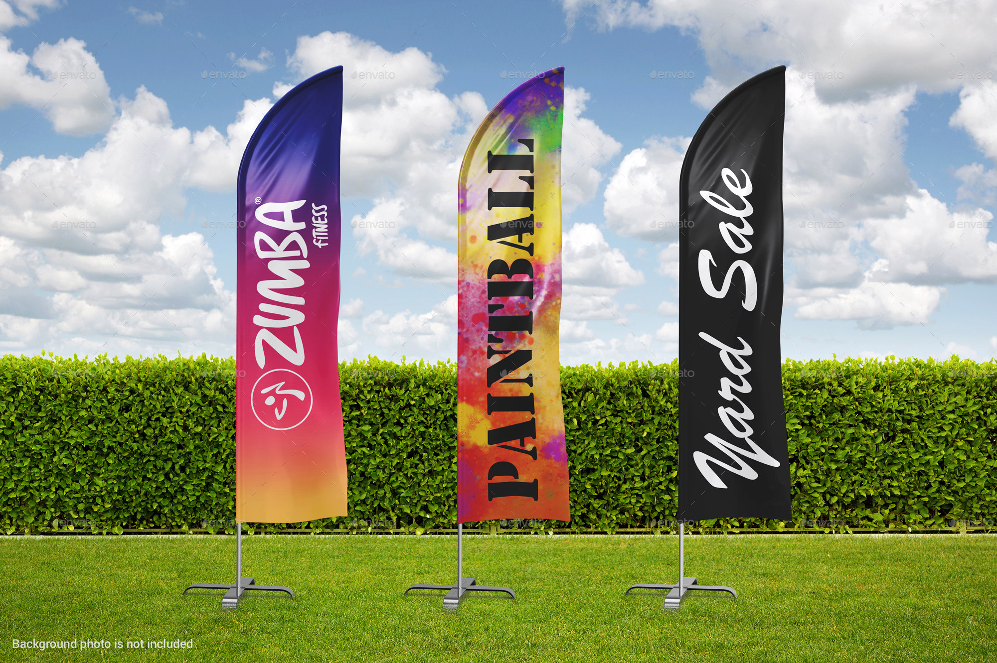 Animals pictures images graphics and comments - 3 Feather Beach Bow Sail Flag Mockup By