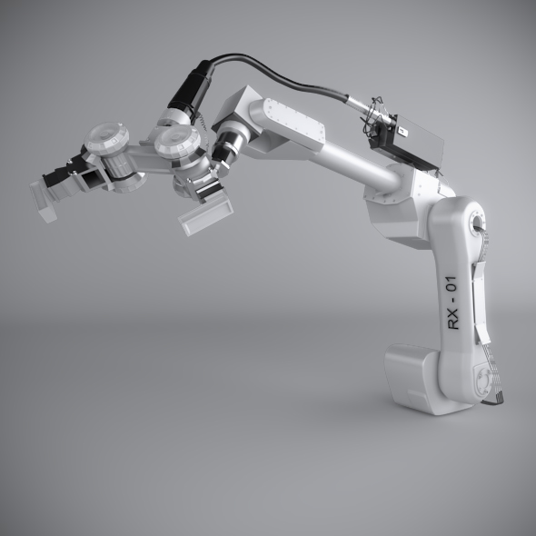 3DOcean Robotic Arm Rigged 179392