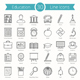30 Education Line Icons