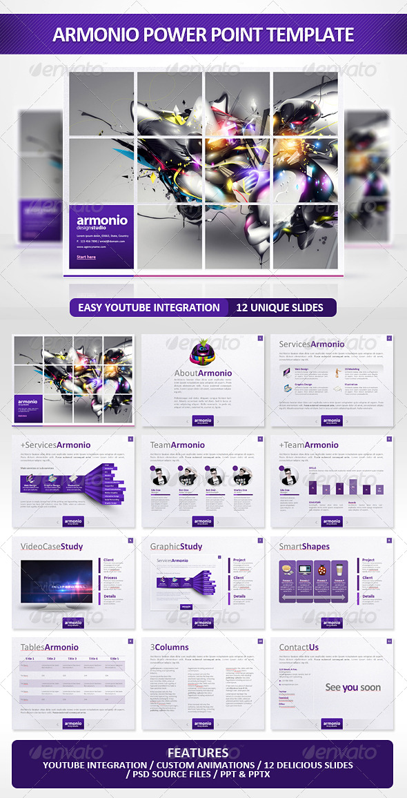 GraphicRiver Armonio Power Point Presentation 178692