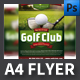 Golf Club A4 Flyer Template
